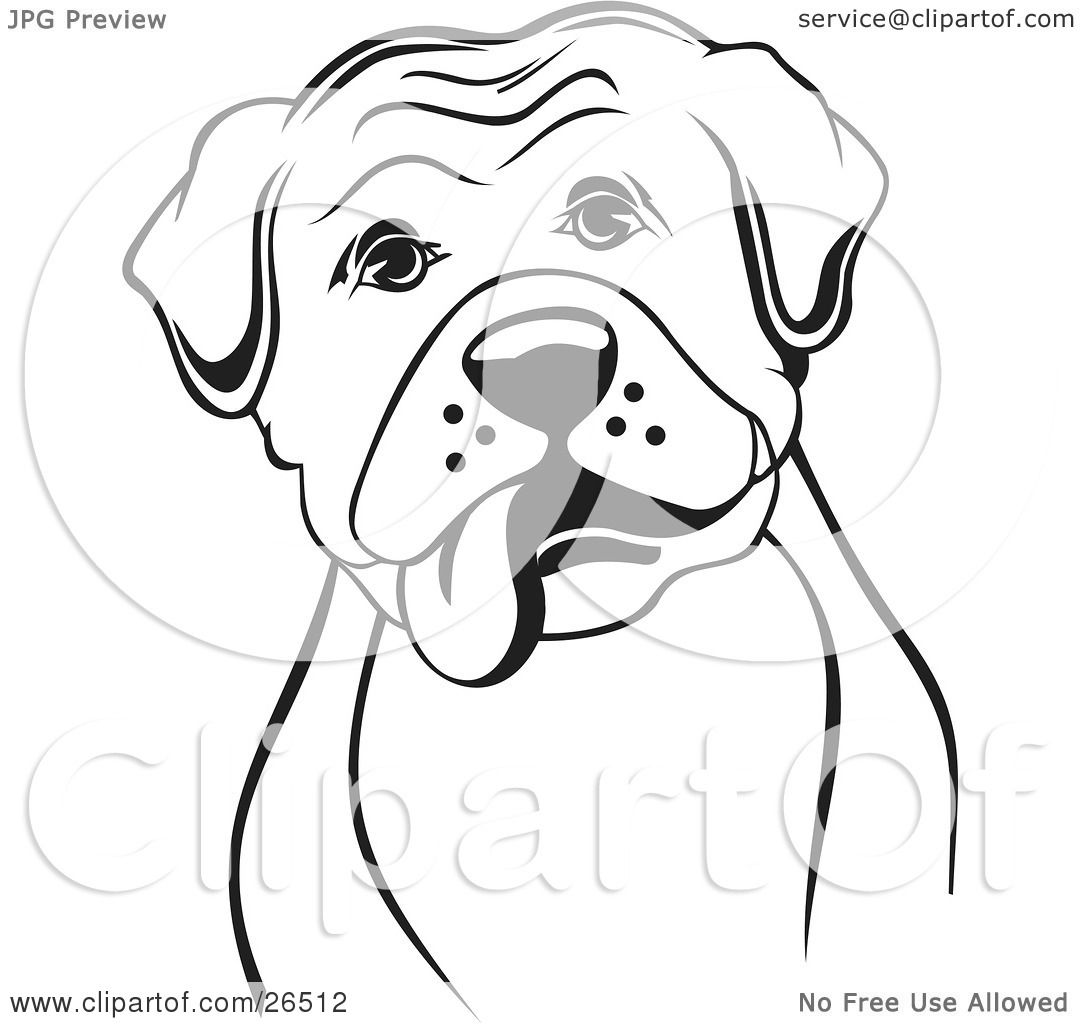 Clipart Illustration Of A Boxer Dog With His Tongue