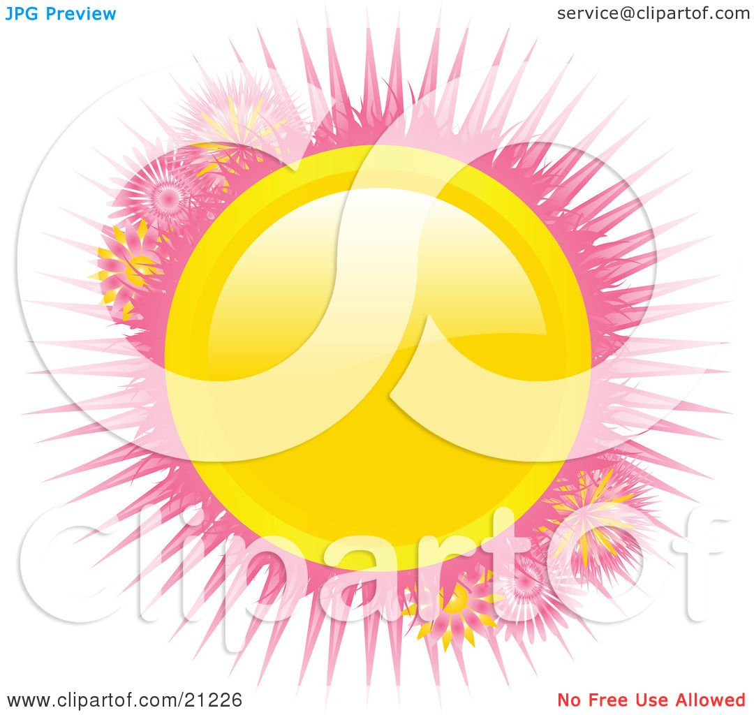 Clipart Illustration Of A Bright Shiny Yellow Circle With