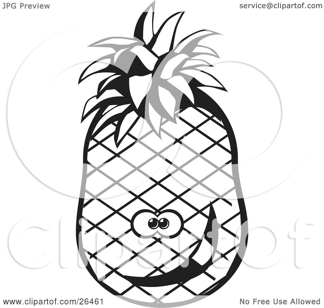 Clipart Illustration Of A Goofy Pineapple Character
