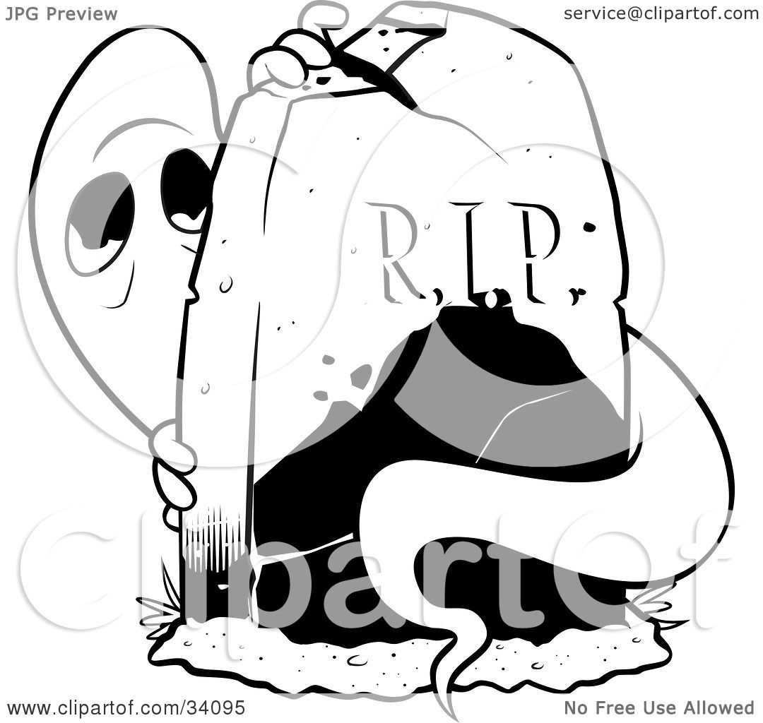 Clipart Illustration Of A Spooked Ghost Peeking From