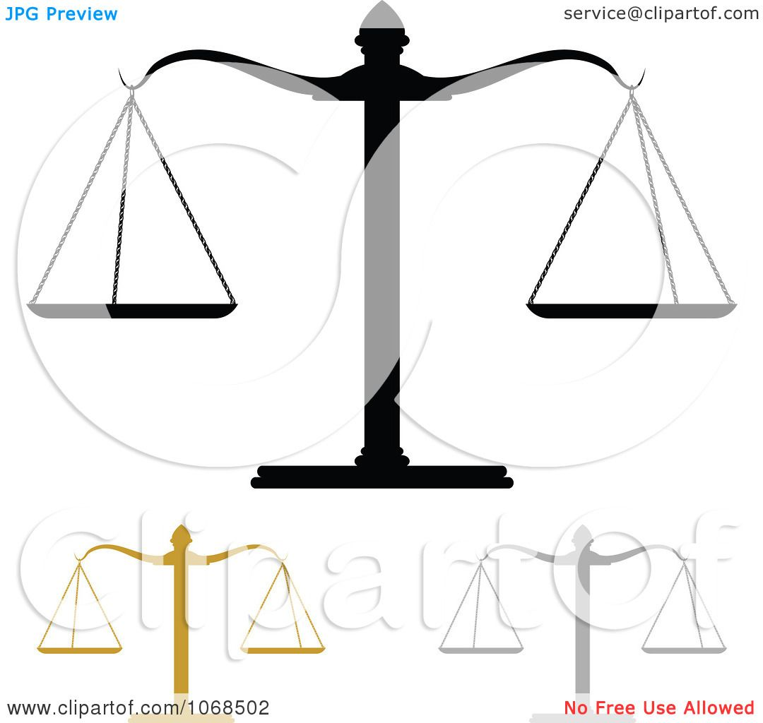 Legal Scales Of Justice Clip Art Sketch Coloring Page