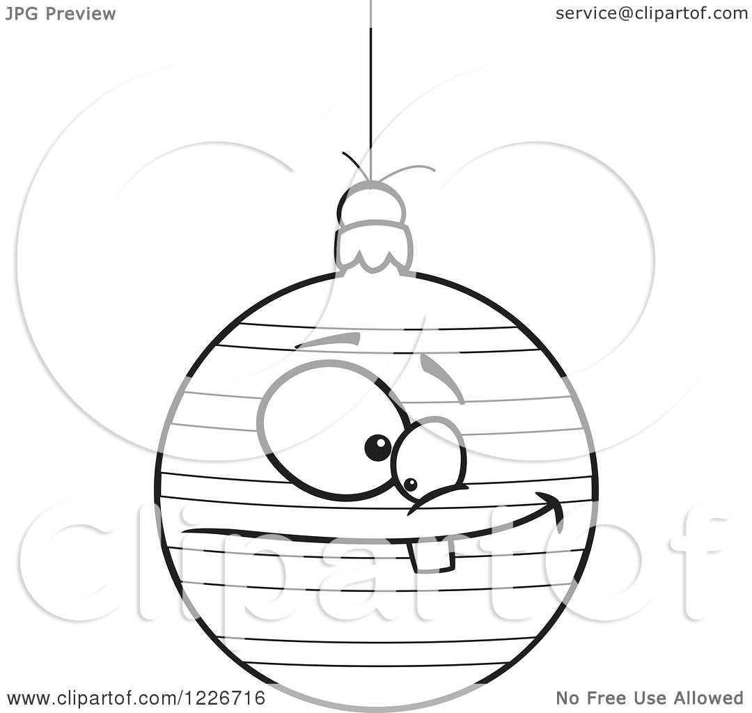 Clipart Of A Black And White Cartoon Striped Goofy