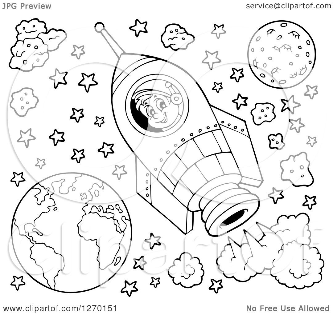 Planets And Stars Drawing Page 2