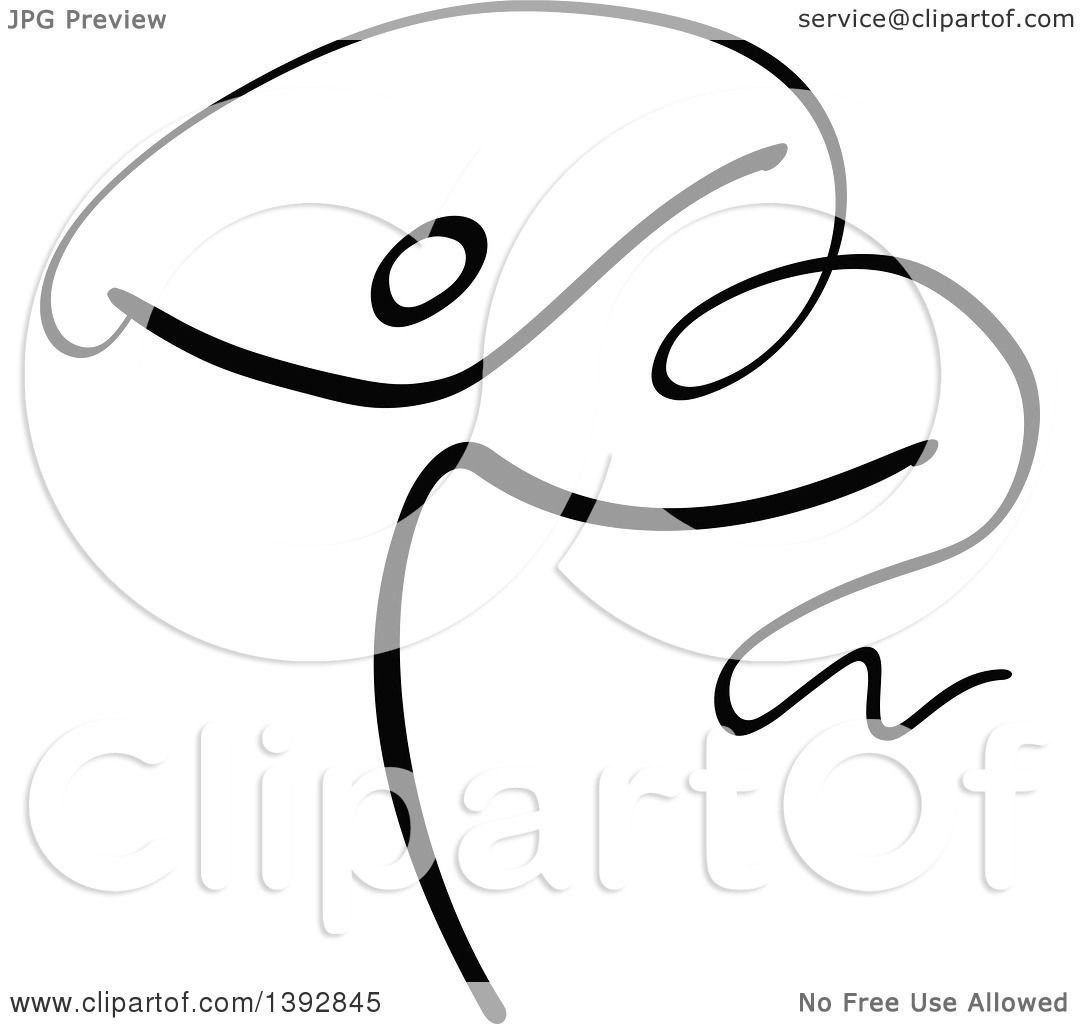 Clipart Of A Black And White Olympic Gymnast Stick Athlete