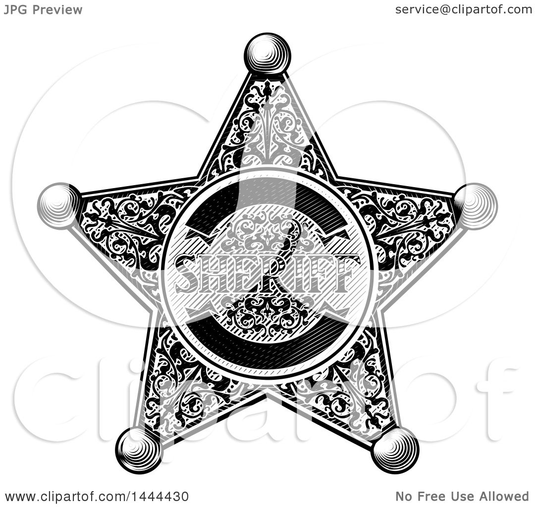 Clipart Of A Black And White Vintage Etched Engraved
