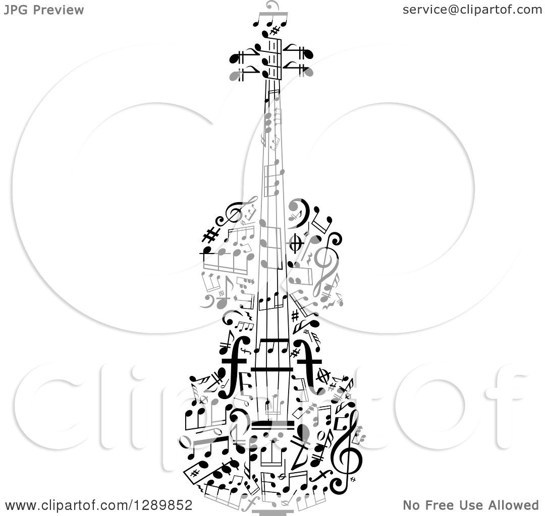 Black And White Violin Flames