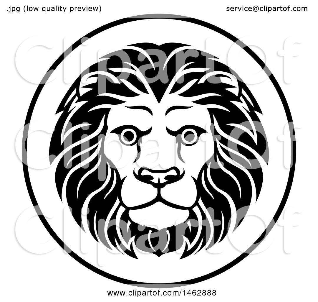 Clipart Of A Black And White Zodiac Horoscope Astrology