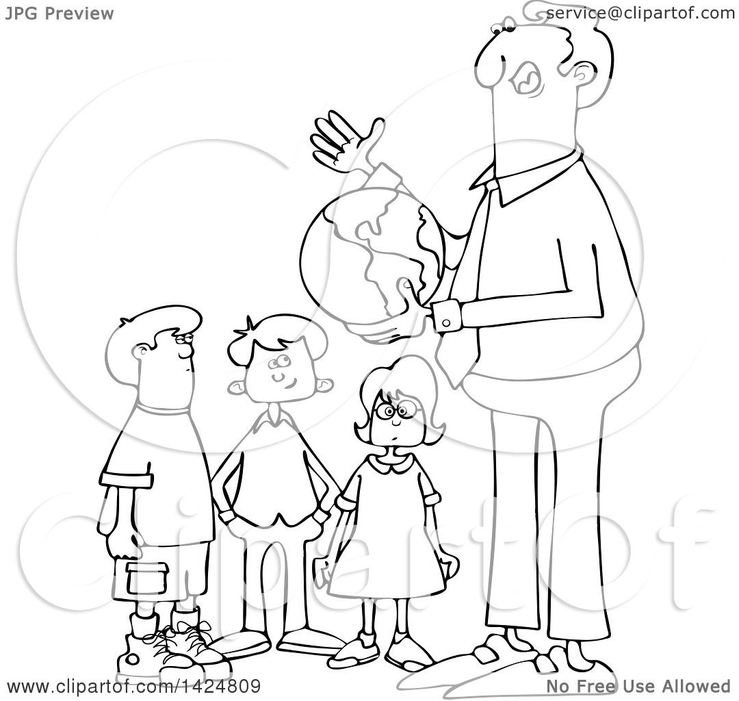 African American Teacher And Student Clipart