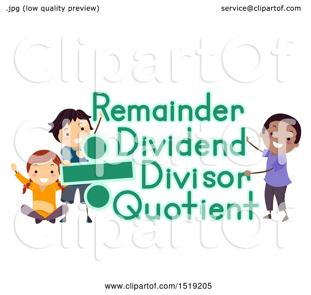 Clipart Of A Group Of Children With Divide Sign And