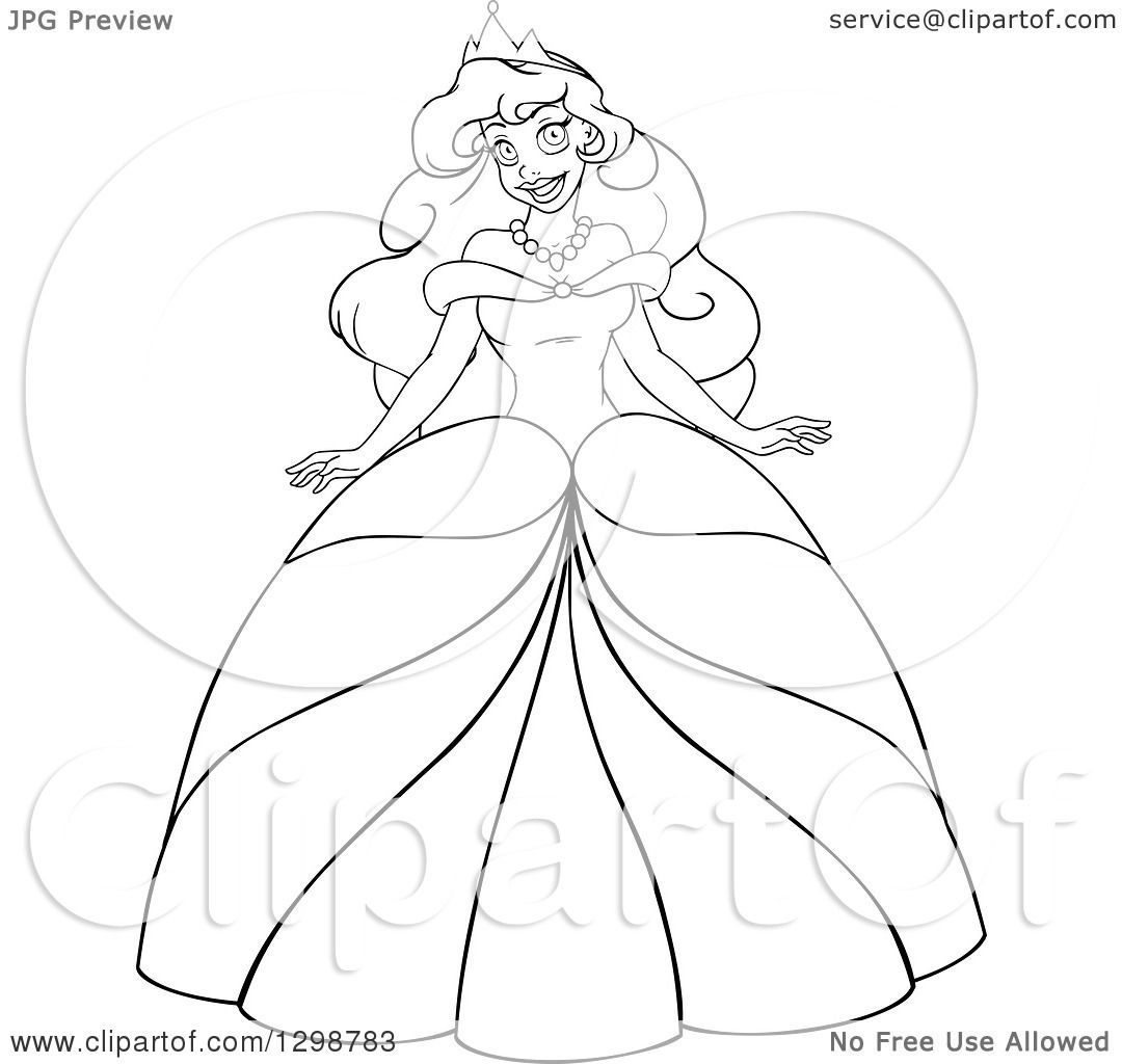Clipart Of A Lineart Black And White Beautiful African