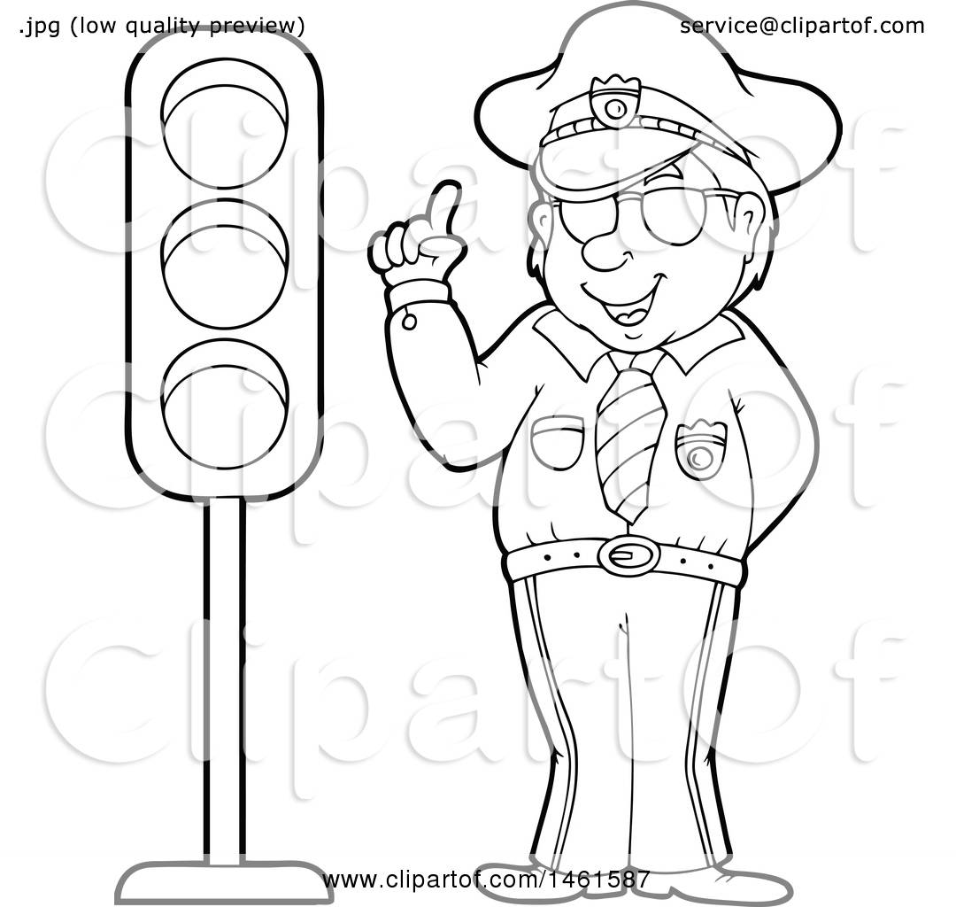 Police Officer Clipart Black And White