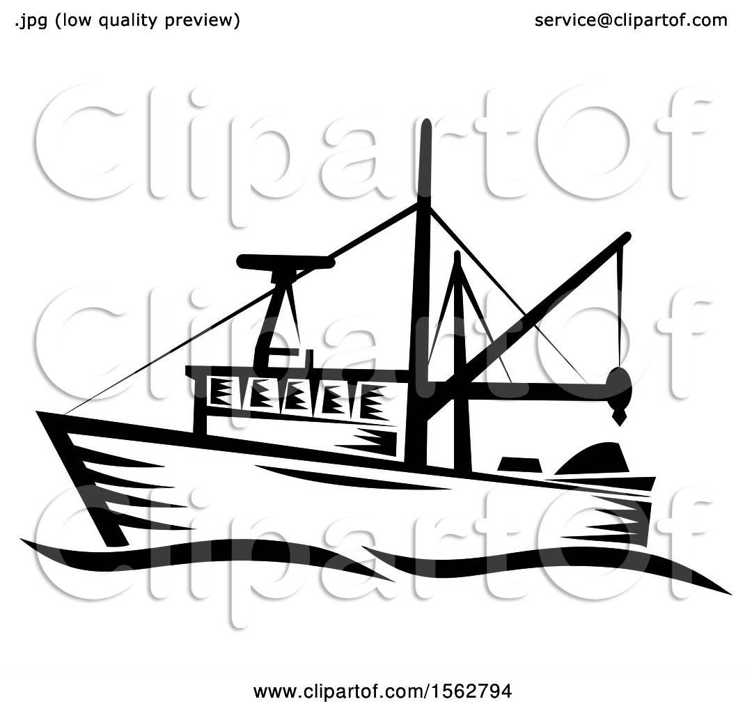 Happy Sea World Charter Boat Clipart