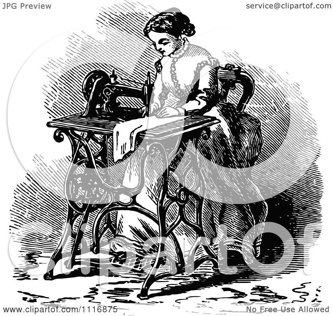 Small Sewing Machine Clip Art