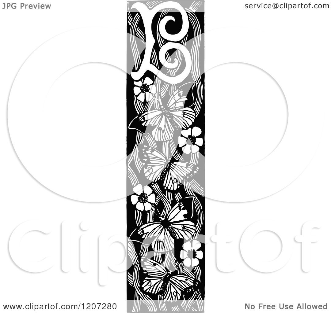 Clipart Of A Vintage Black And White Letter B Monogram
