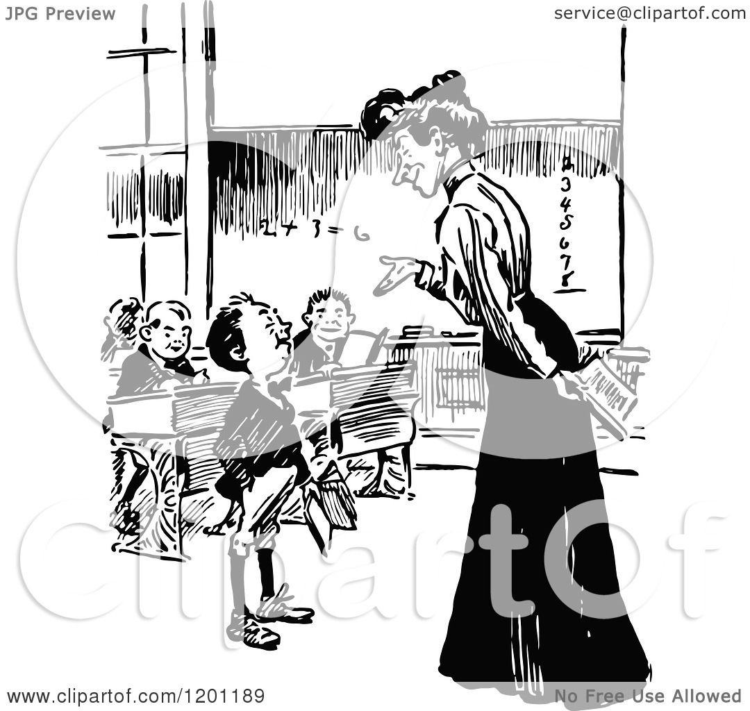 Teacher With Student Clipart