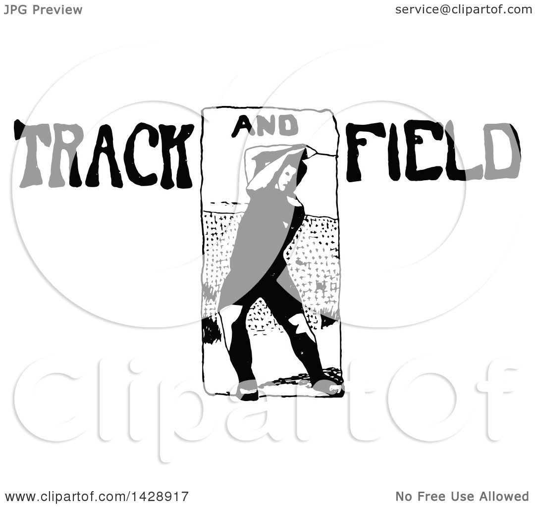 Clipart Of A Vintage Black And White Sketched Track And