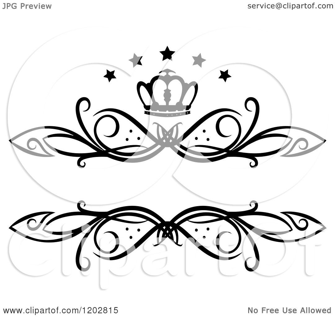 Clipart Of A Vintage Black And White Swirl Frame With A