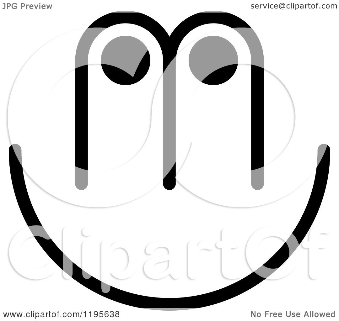 Clipart Of An Abstract Black And White M U Logo