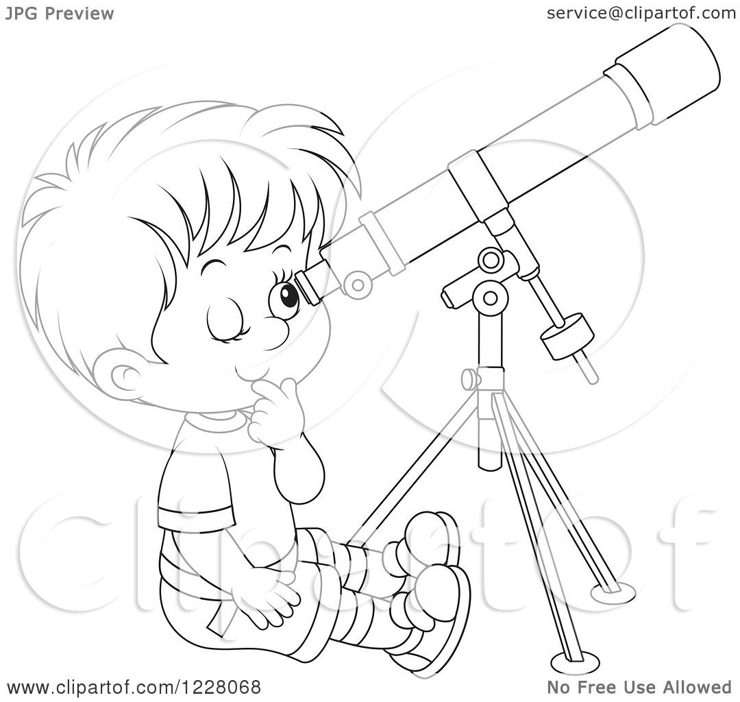 Person Looking In Telescope