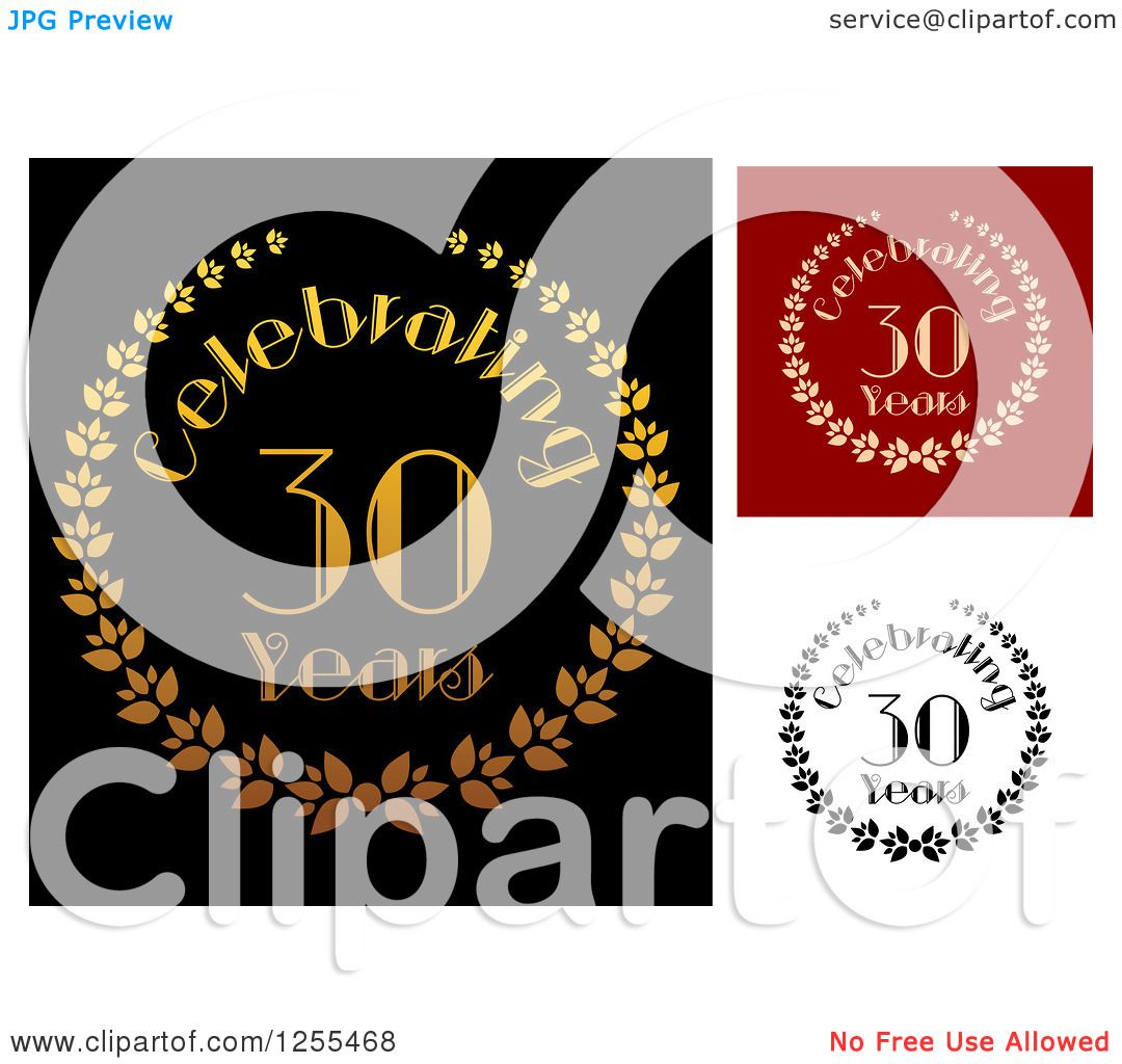 Download Clipart of Celebrating 30 Year Anniversary Designs ...