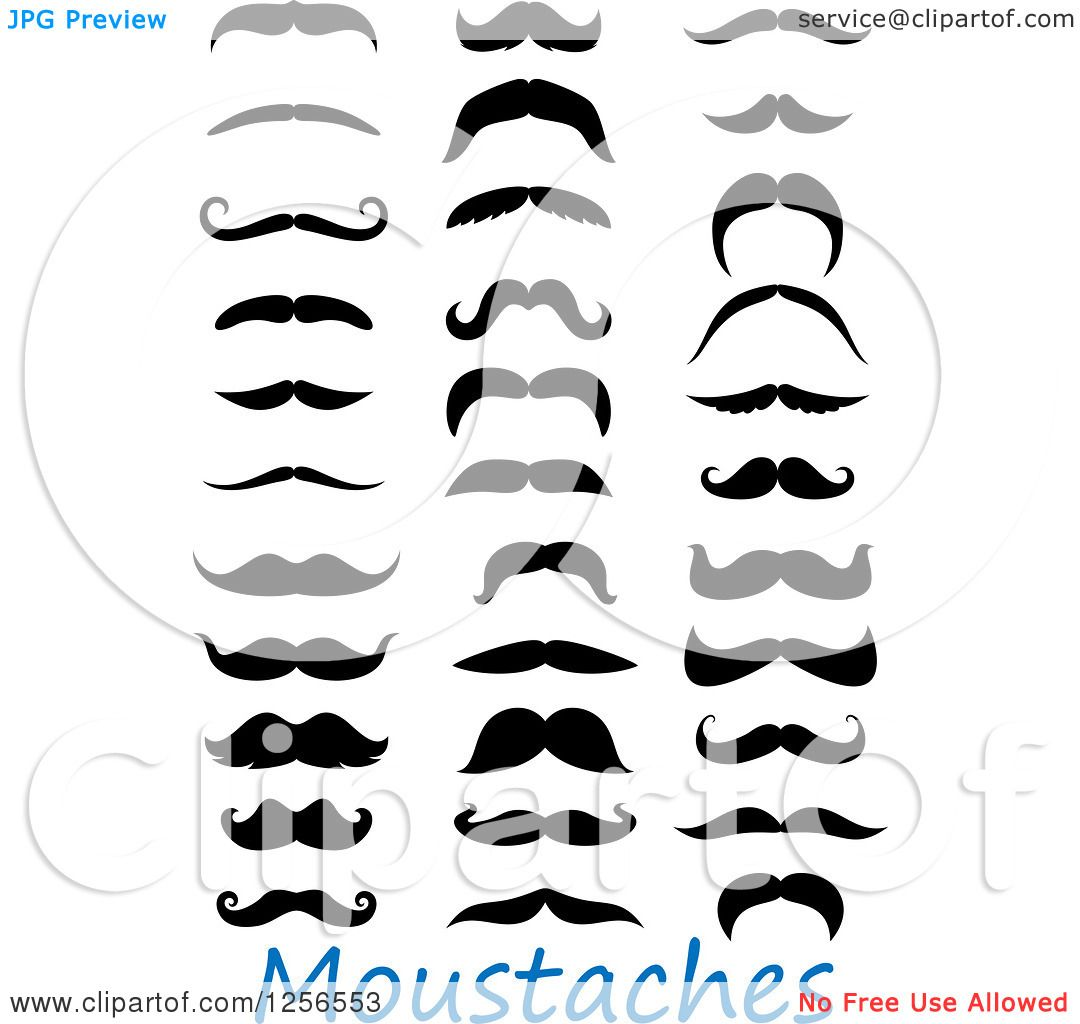 Clipart Of Moustaches