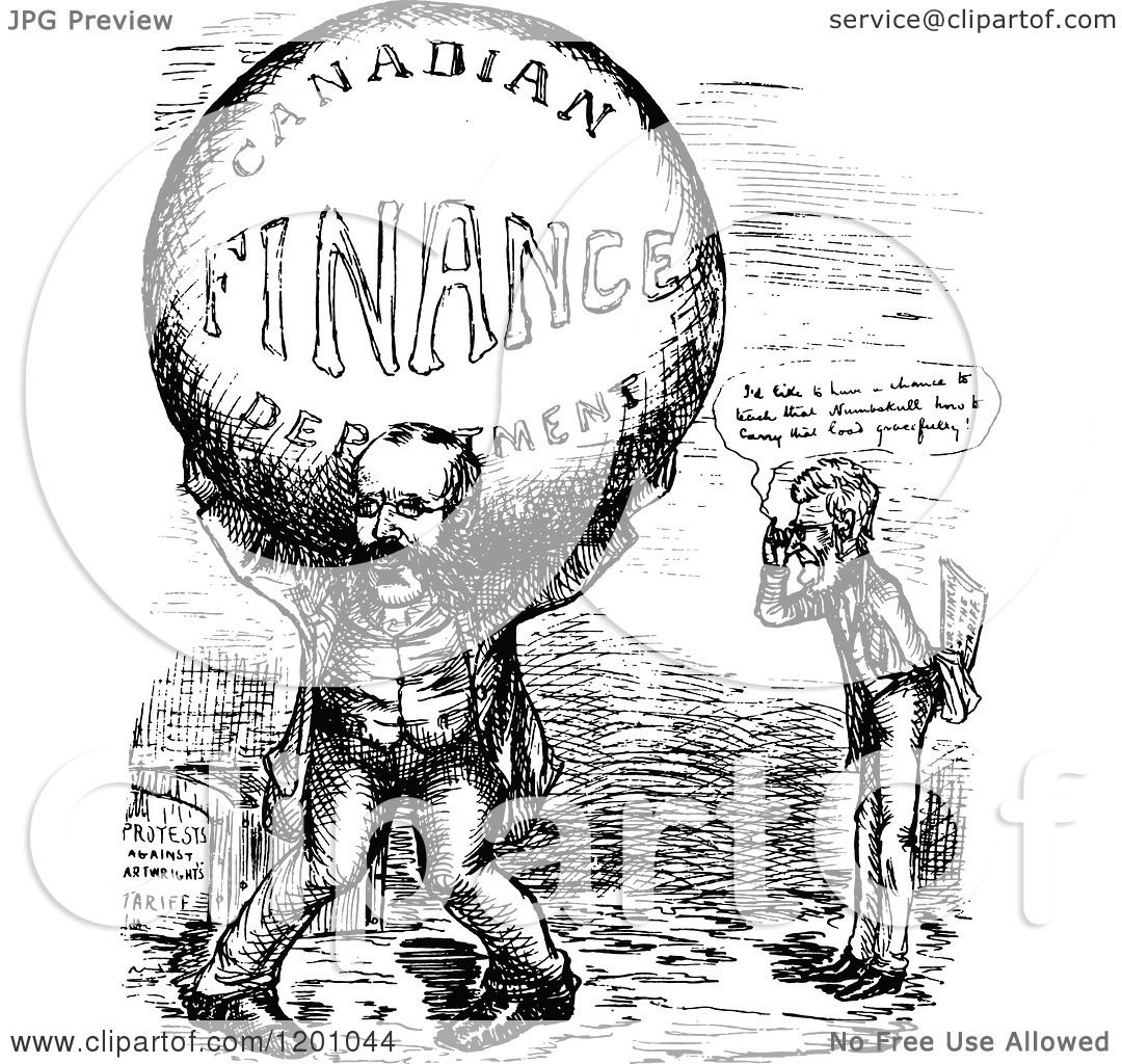 Clipart Of Vintage Black And White Political Atlas