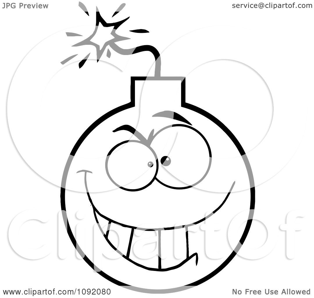 Clipart Outlined Evil Character