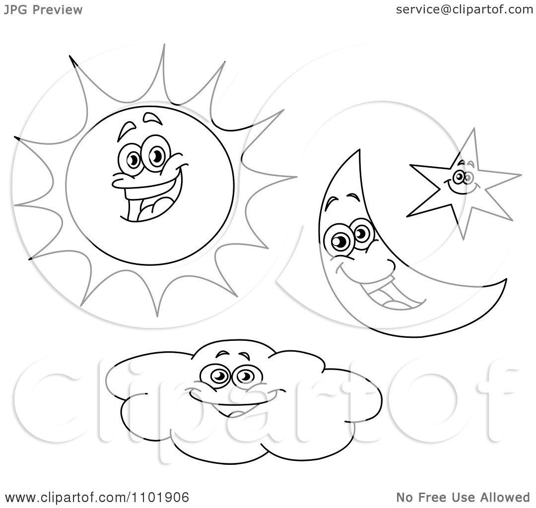 Crescent Moon Coloring Pages