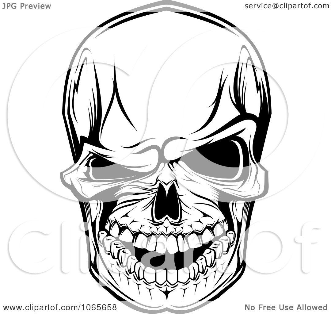 Clipart Scary Skull 5
