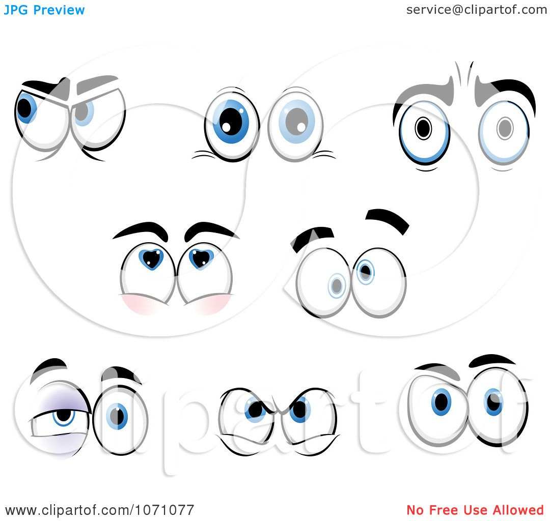 Clipart Sets Of Emotional Eyes 2