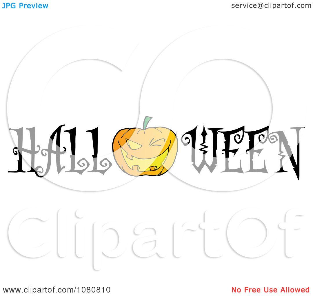 Clipart The Word Halloween With A Jackolantern As The O
