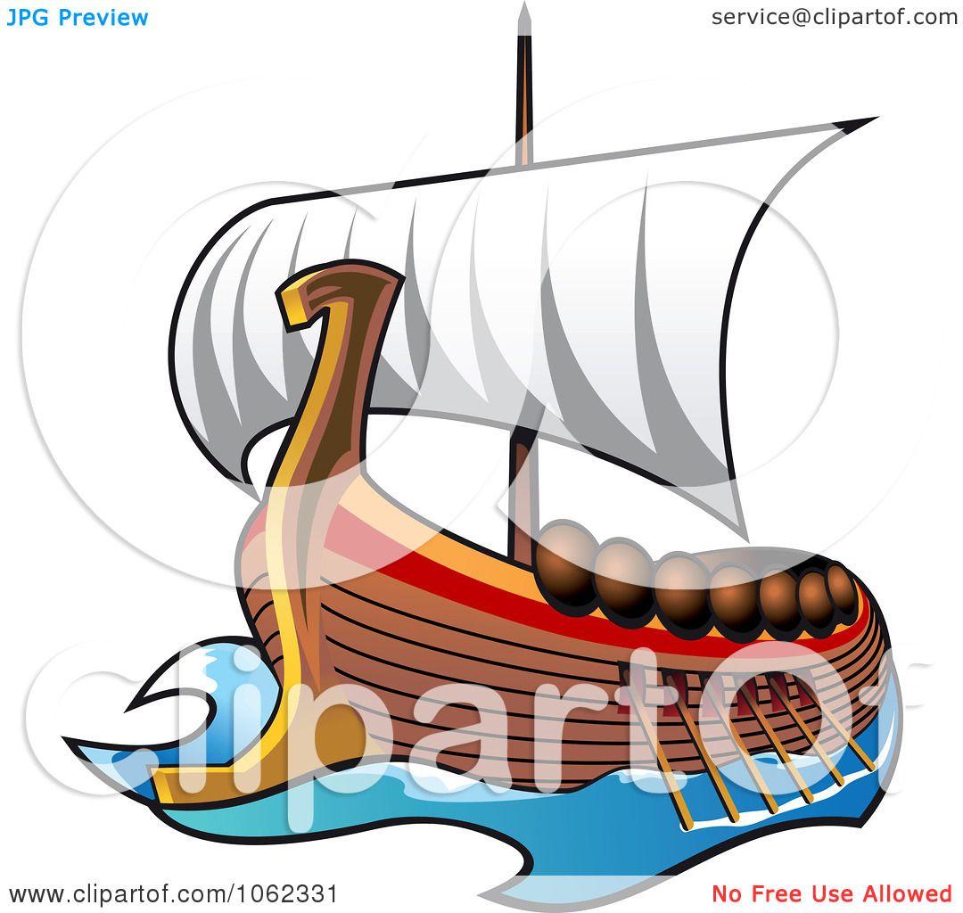 Clipart Viking Ship At Sail