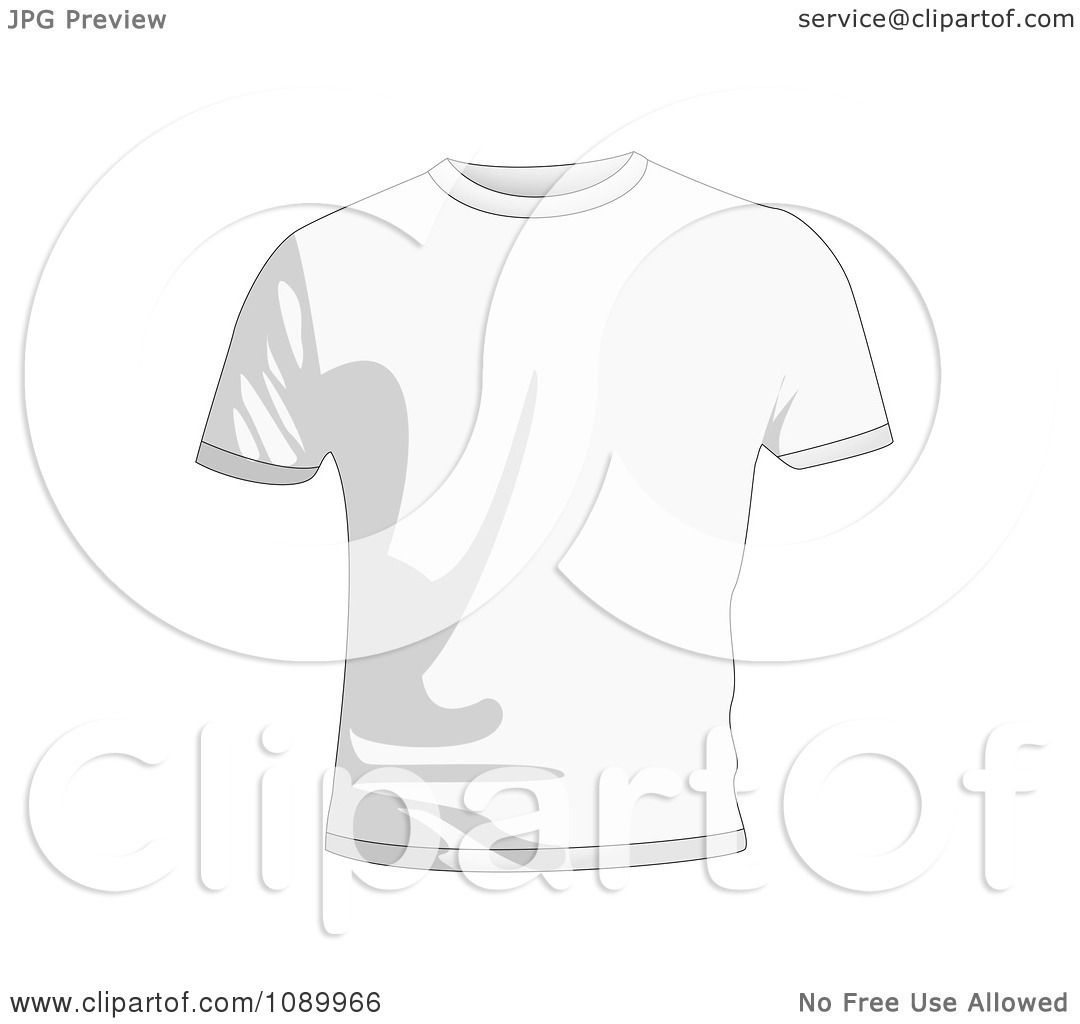 Clipart White Mens T Shirt