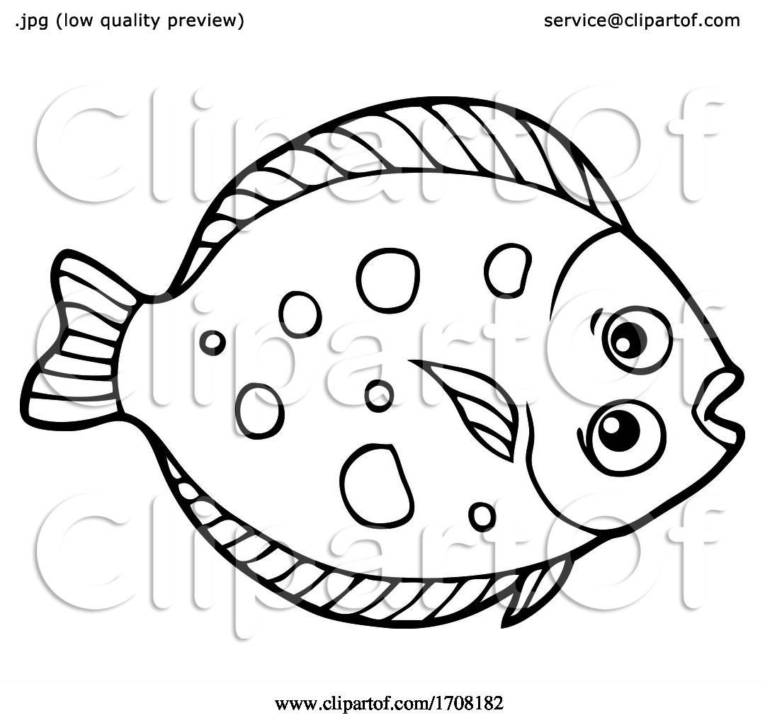 Flounder Fish By Visekart