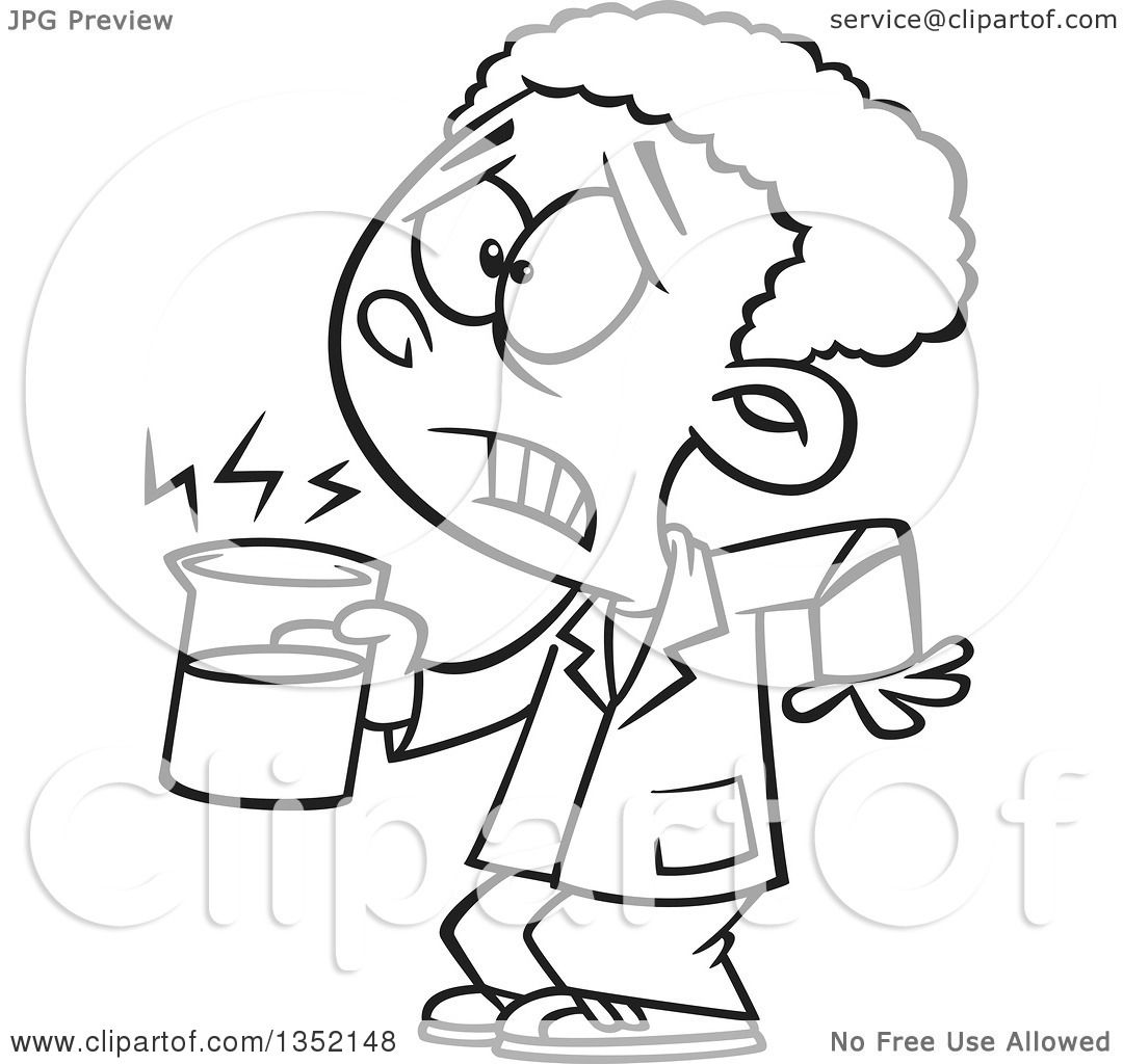 Outline Clipart Of A Cartoon Black And White African
