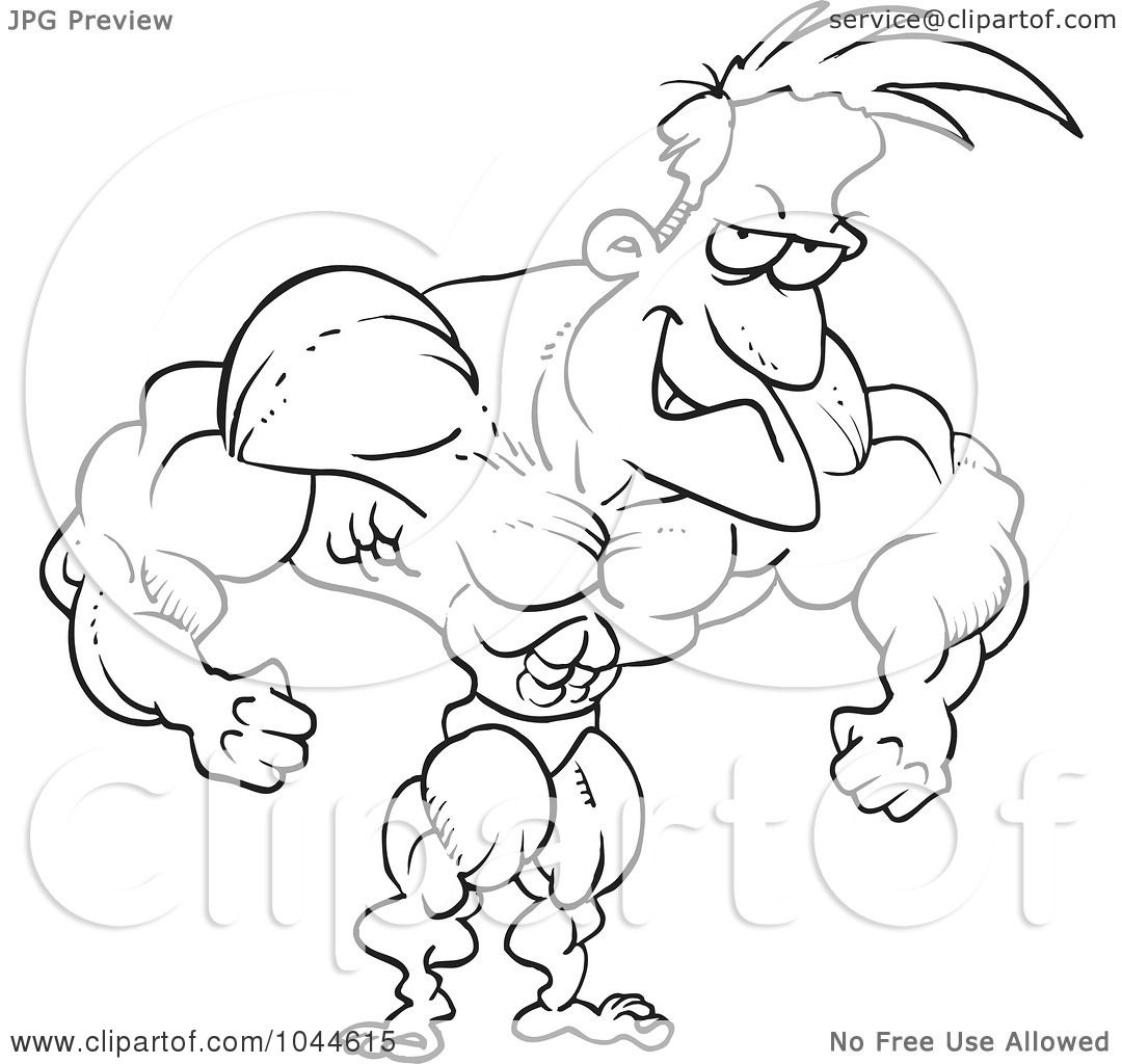 Royalty Free Rf Clip Art Illustration Of A Cartoon Black And White Outline Design Of A