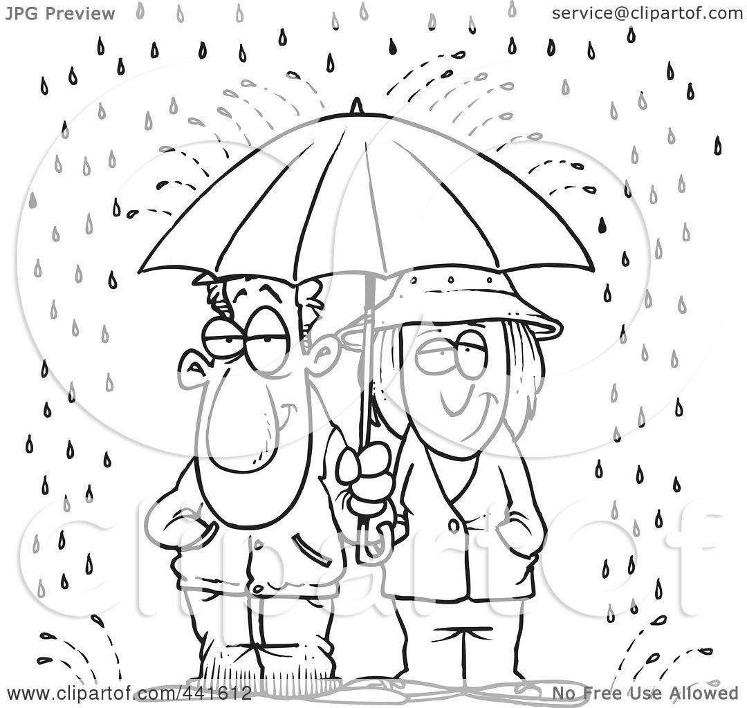 Rainy Day Clip Art Black And White Cliparts
