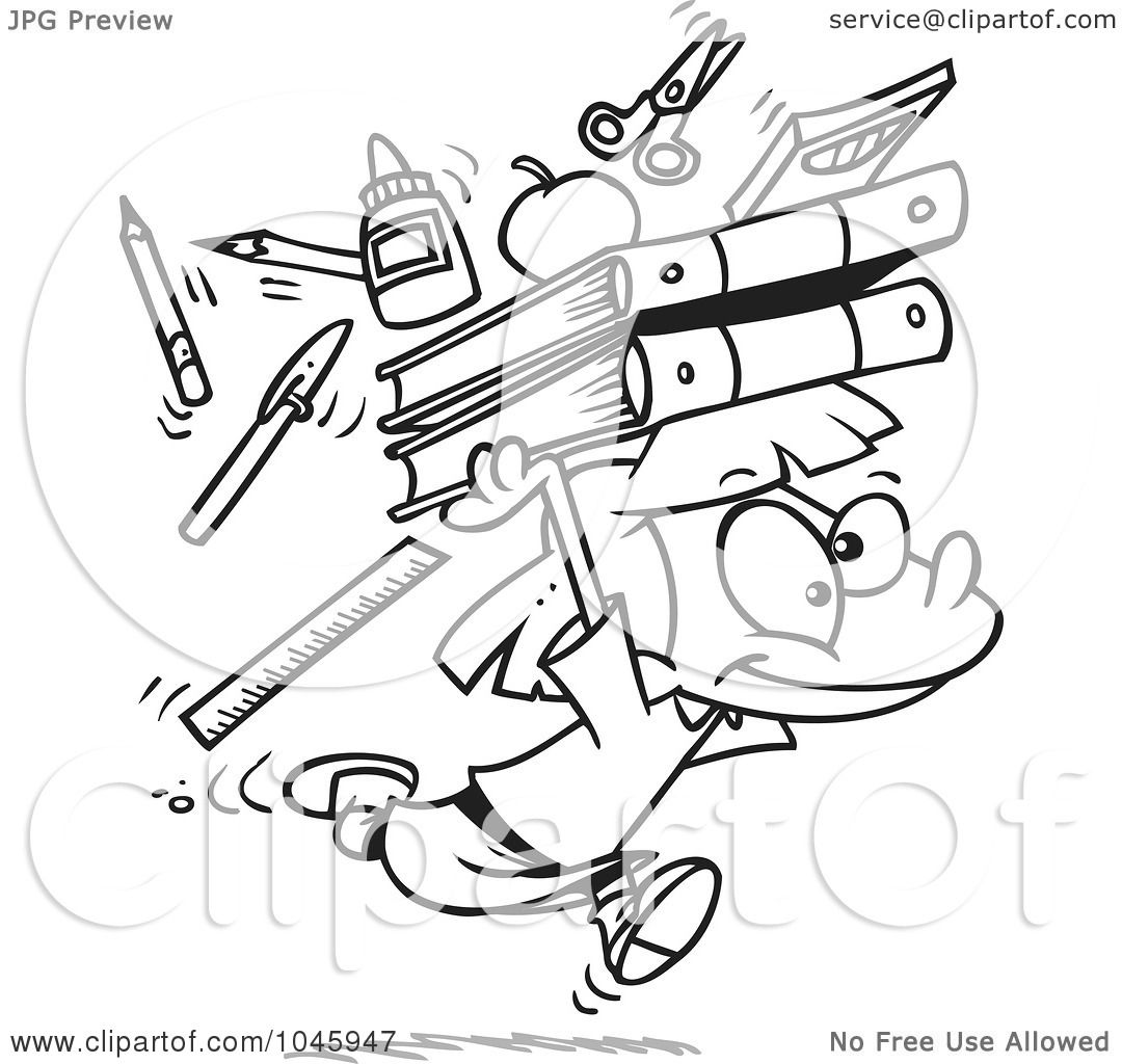 Royalty Free Rf Clip Art Illustration Of A Cartoon Black