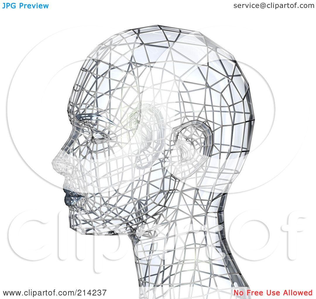 Royalty Free Rf Clipart Illustration Of A 3d Silver Wire