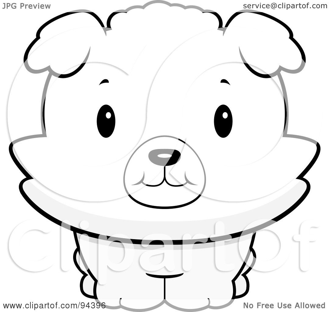 Royalty Free Rf Clipart Illustration Of A Baby Bichon