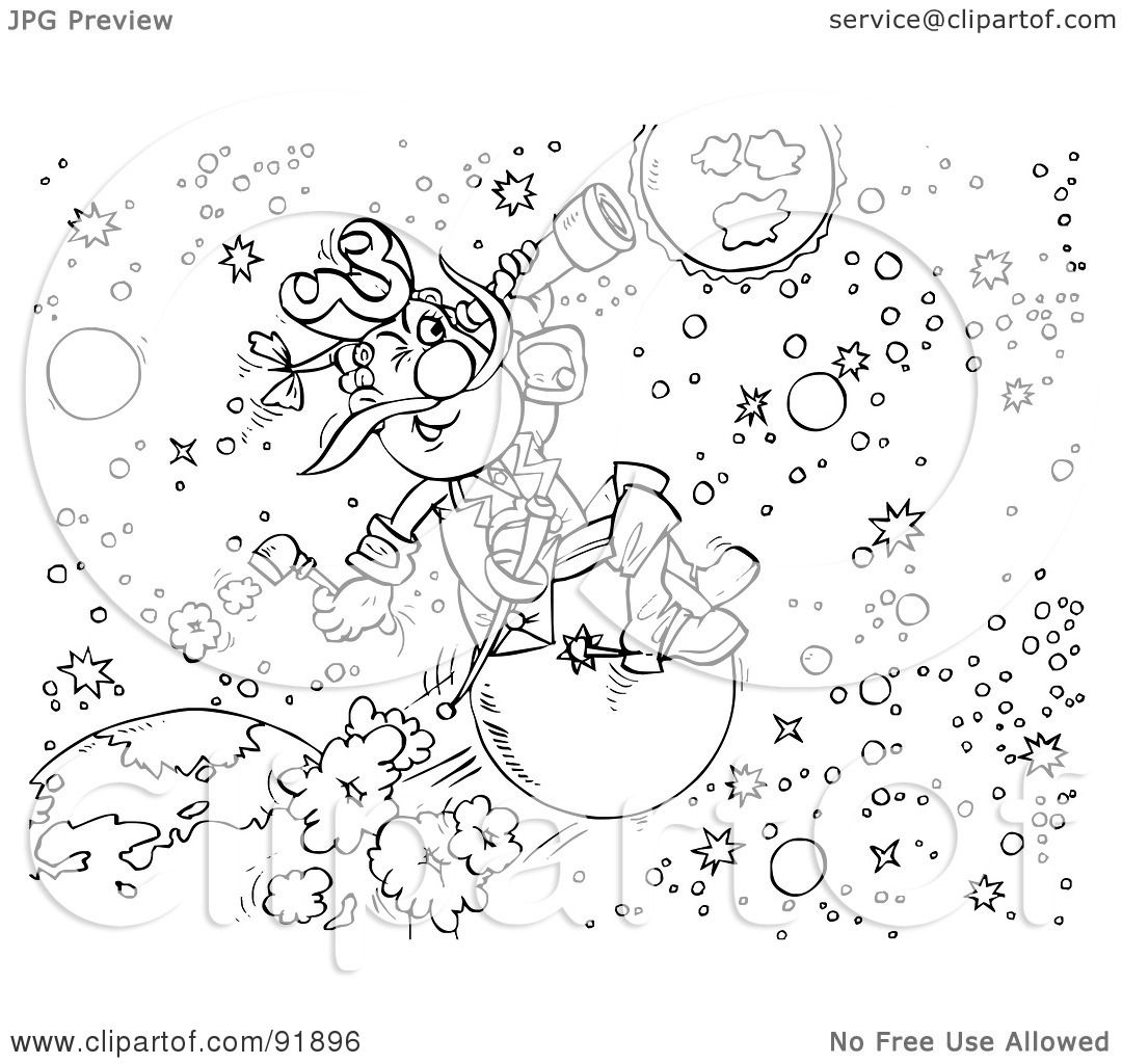 Astronomy Coloring Pages