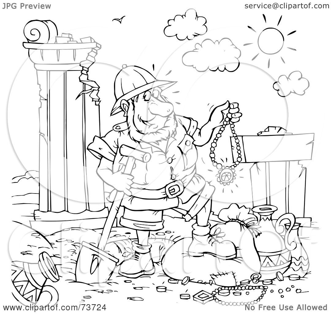 Archaeologist Page Coloring Pages