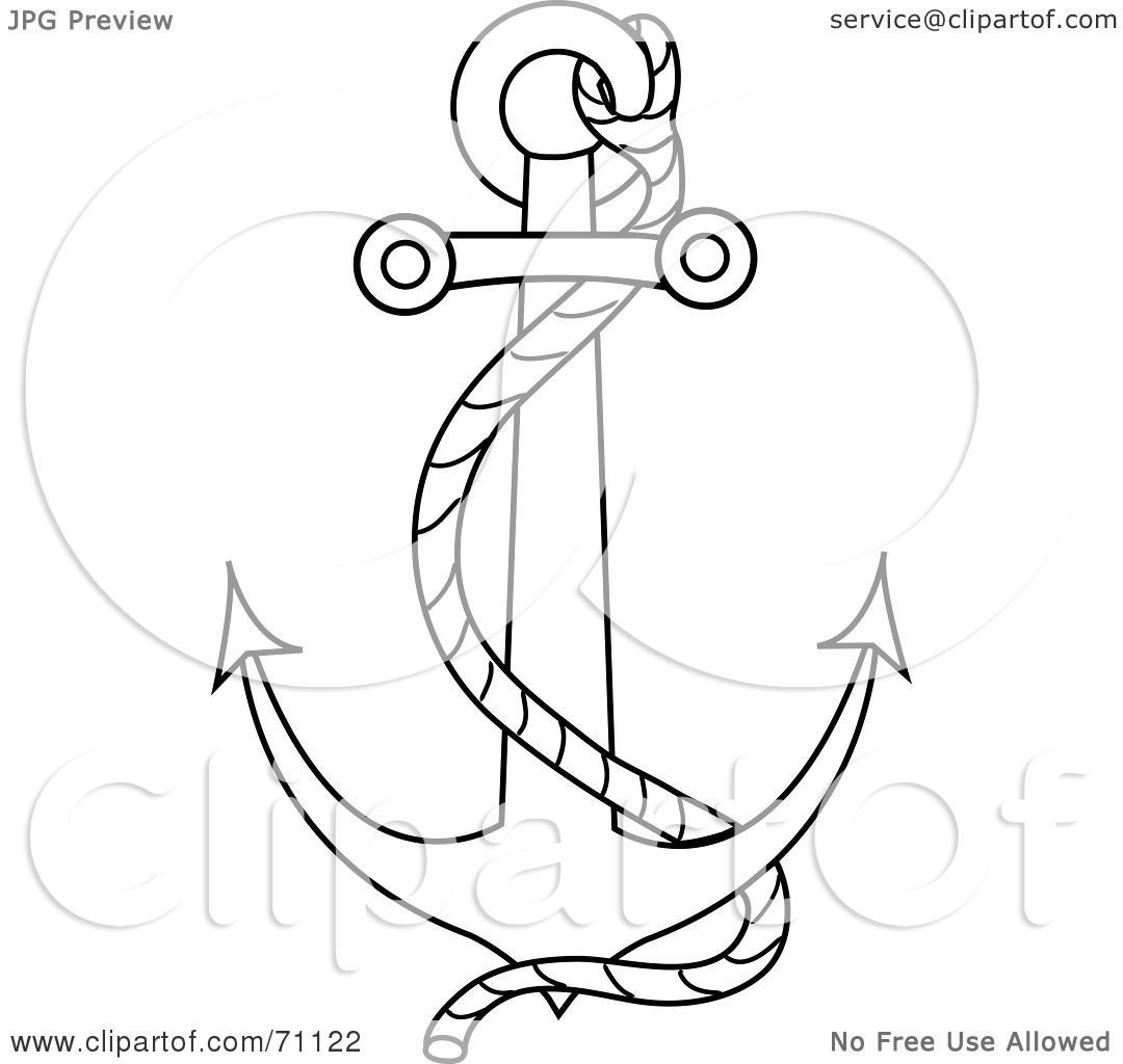 Royalty Free Rf Clipart Illustration Of A Black Outline