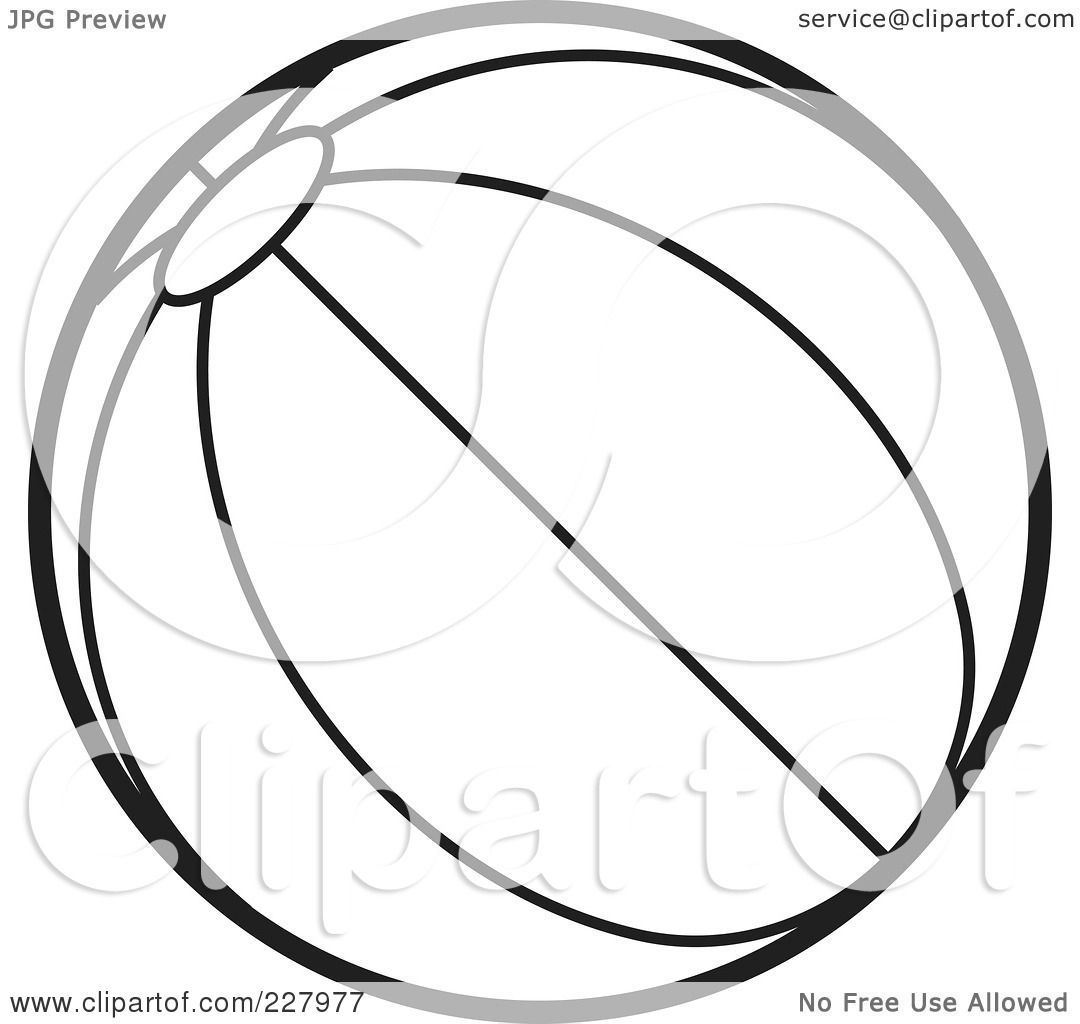 Royalty Free Rf Clipart Illustration Of A Coloring Page Outline Of A Beach Ball With Stripes