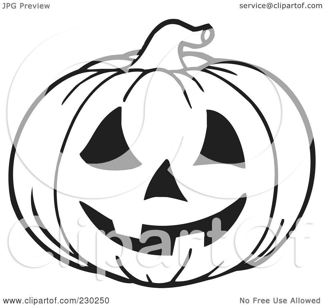 Royalty Free Rf Clipart Illustration Of A Coloring Page Outline Of A Jackolantern By Visekart