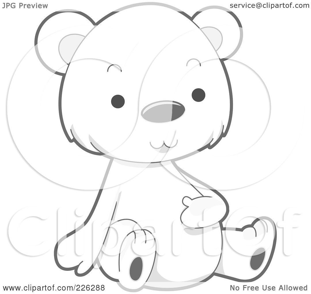 Royalty Free Rf Clipart Illustration Of A Cute Baby Polar Bear Rubbing His Belly By Bnp Design