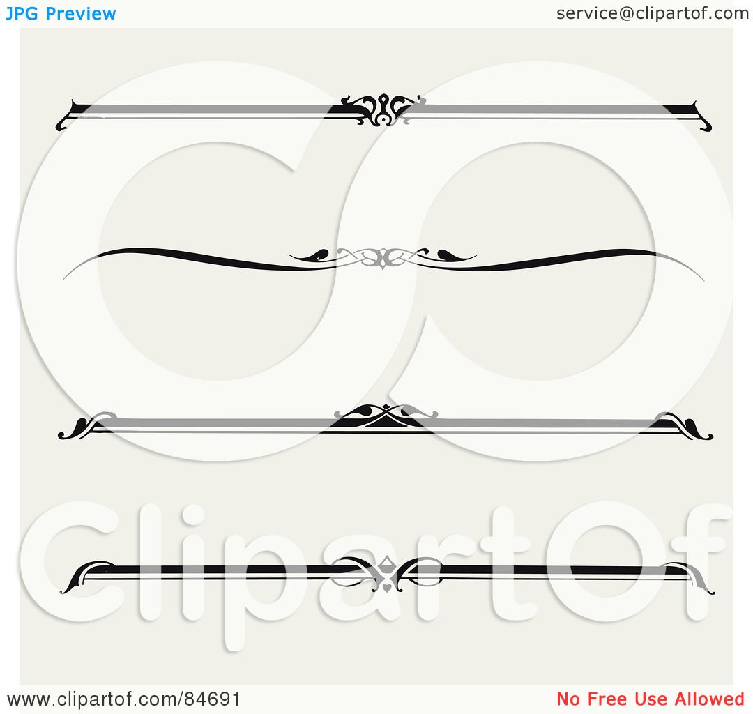 Royalty Free Rf Clipart Illustration Of A Digital Collage Of Four Black And White Straight
