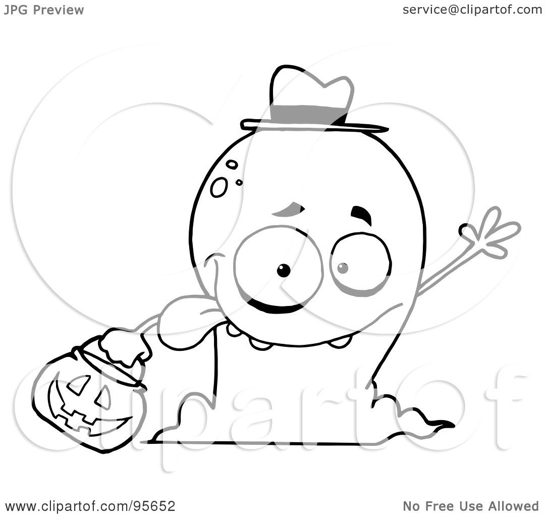 Royalty Free Rf Clipart Illustration Of A Goofy Outlined