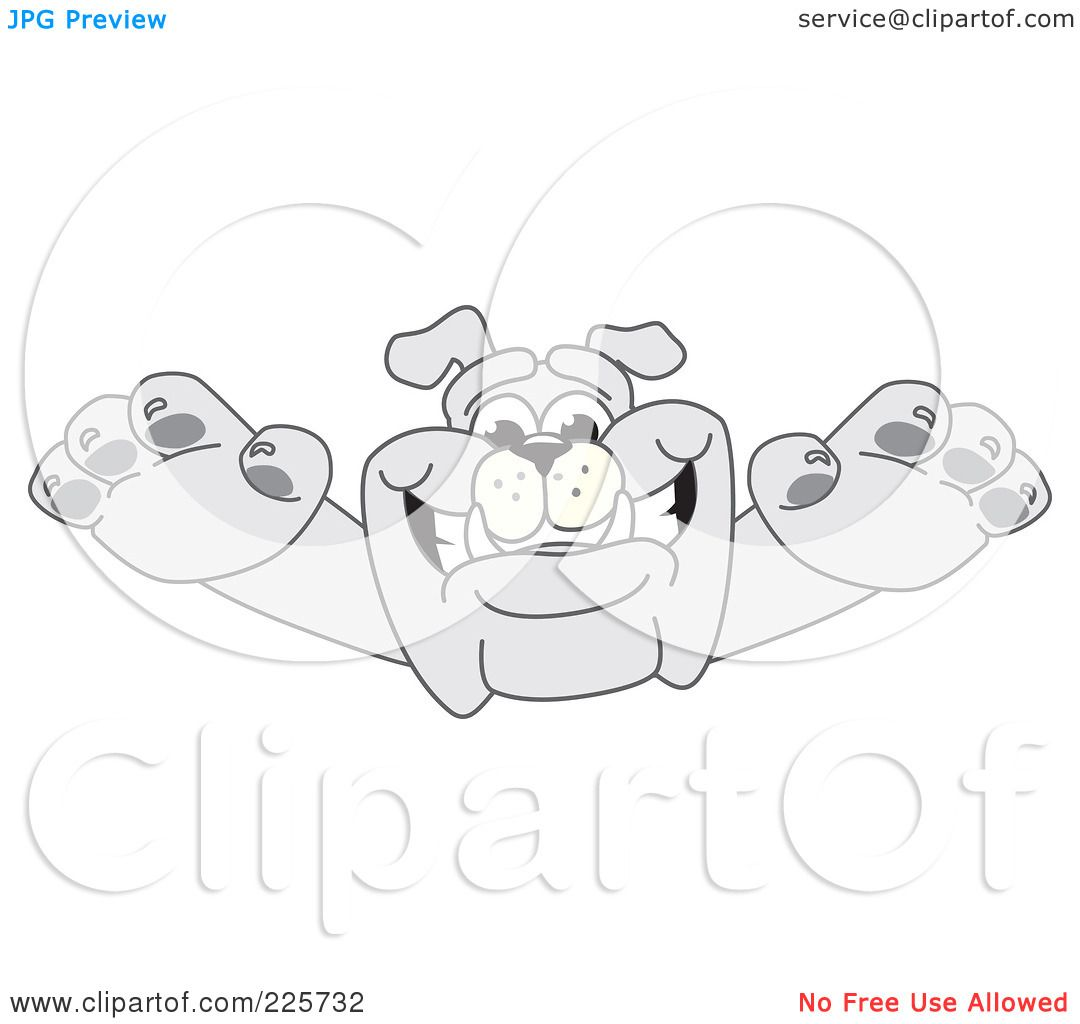 Royalty Free Rf Clipart Illustration Of A Gray Bulldog