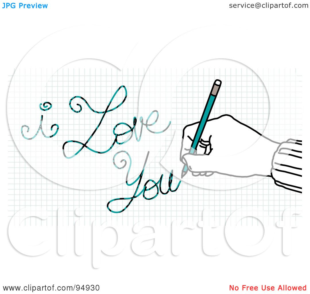 Royalty Free Rf Clipart Illustration Of A Hand Writing I